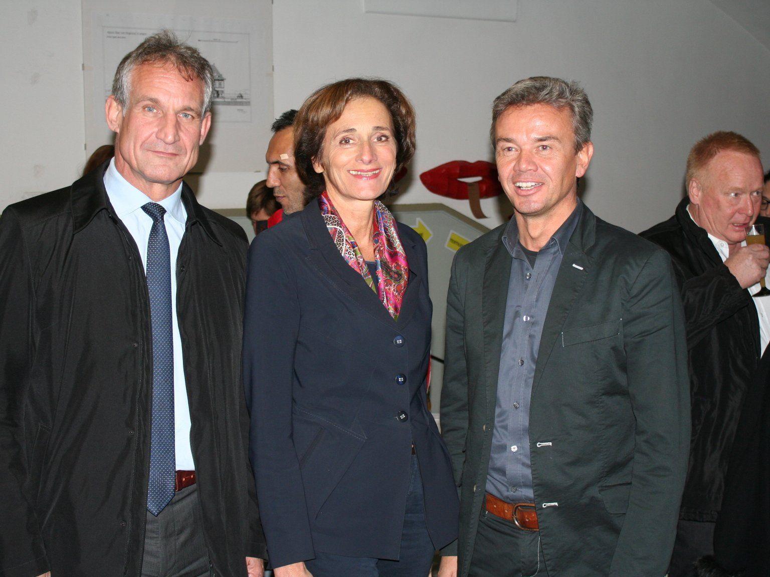 Bürgermeister Markus Linhard, Bernadette Mennel, Elmar Halder