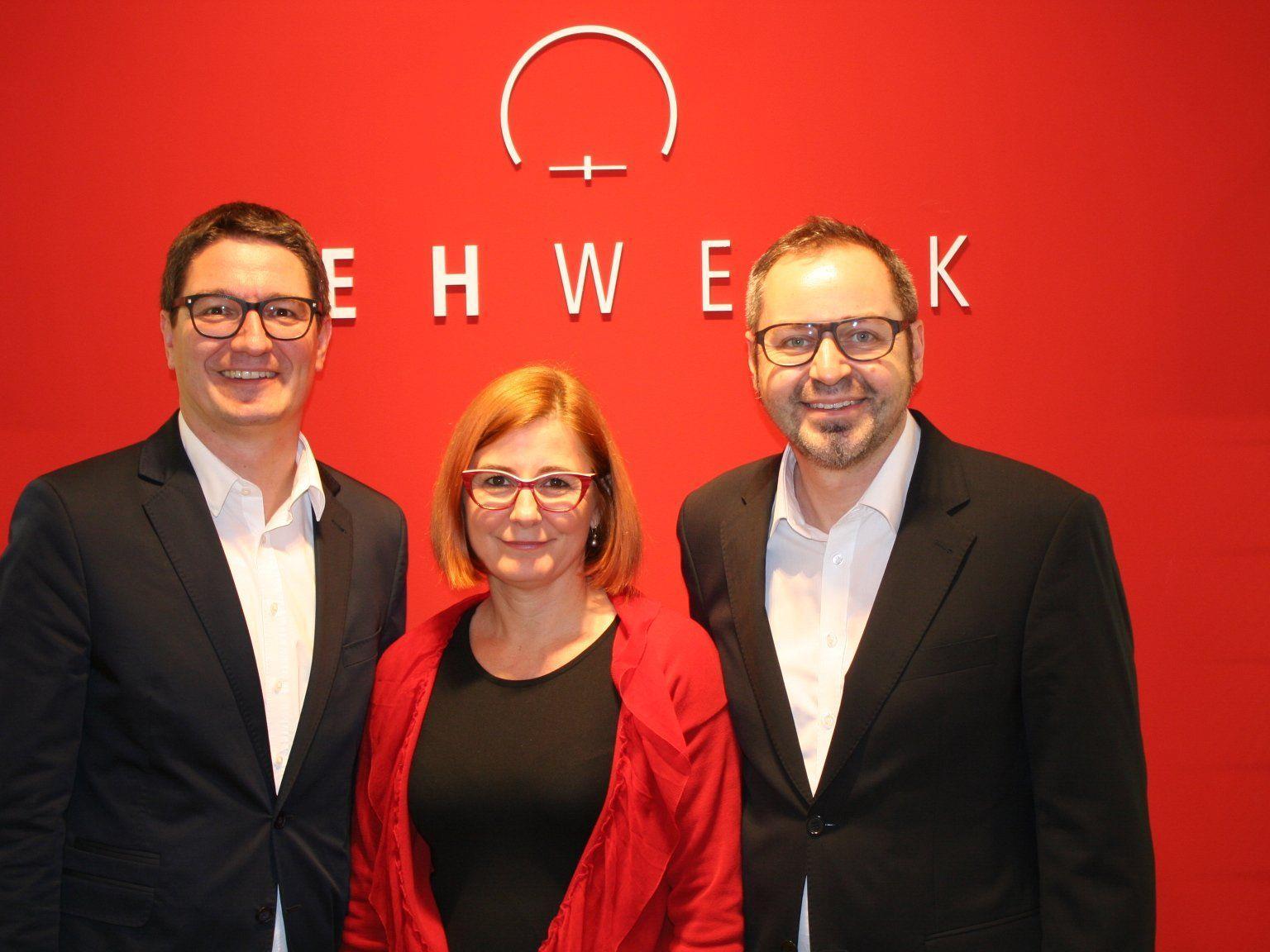 Reinhold Einwallner, Ingrid Birbamer und Thomas Magdic begrüßten zahlreiche Gäste