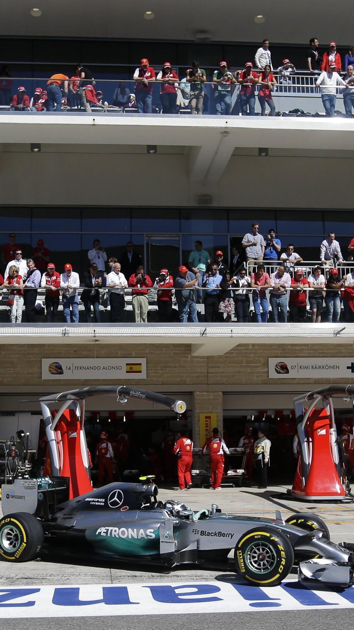 Nico Rosberg hält mit seiner Pole Position in Texas die Spannung im WM-Kampf.