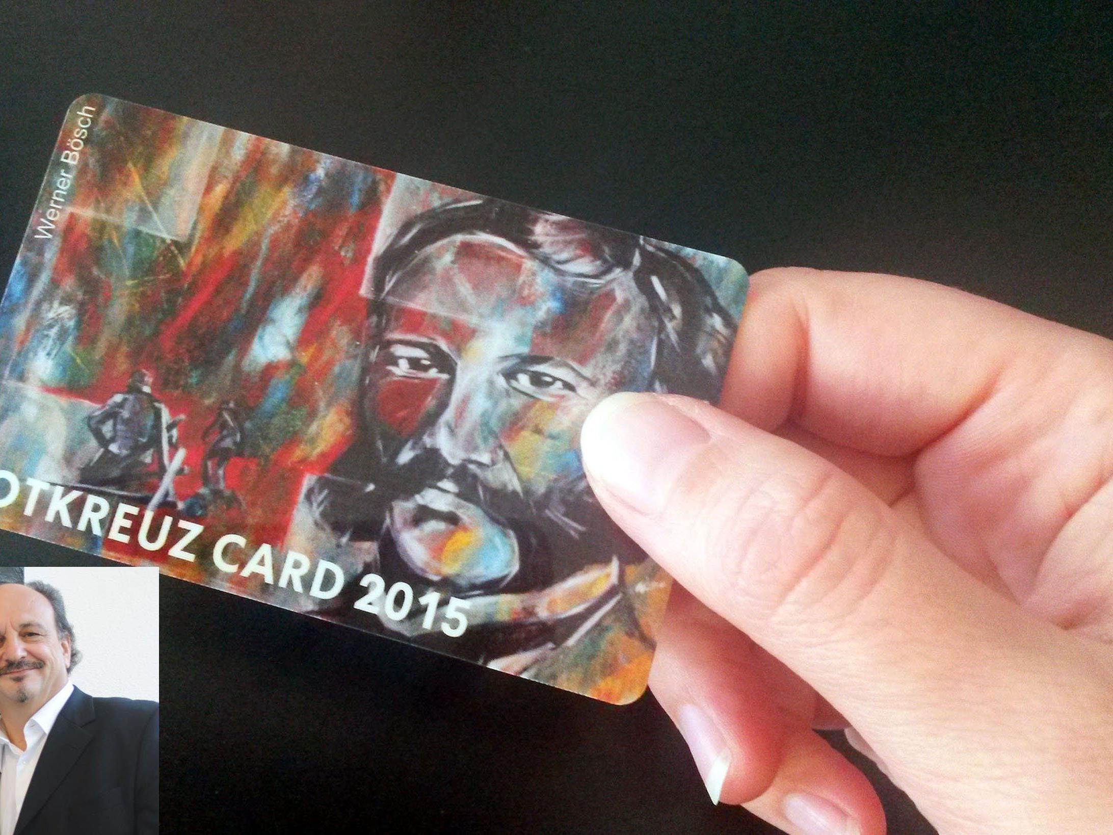 Die neue RK-Card wurde von Künstler Werner Bösch (kl. Bild) gestaltet.