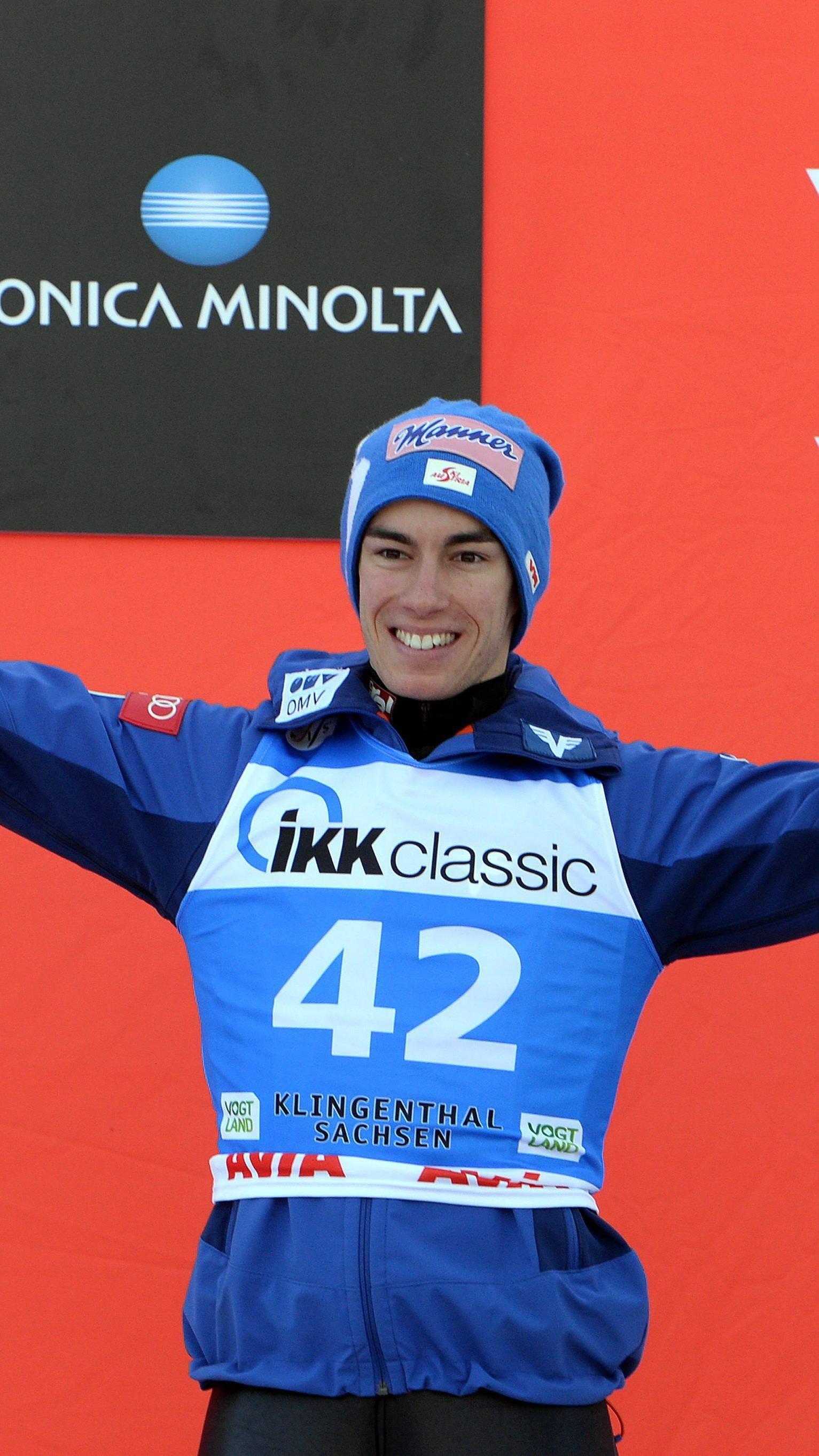 Stefan Kraft wurde zum Saisonauftakt in Klingenthal Zweiter.
