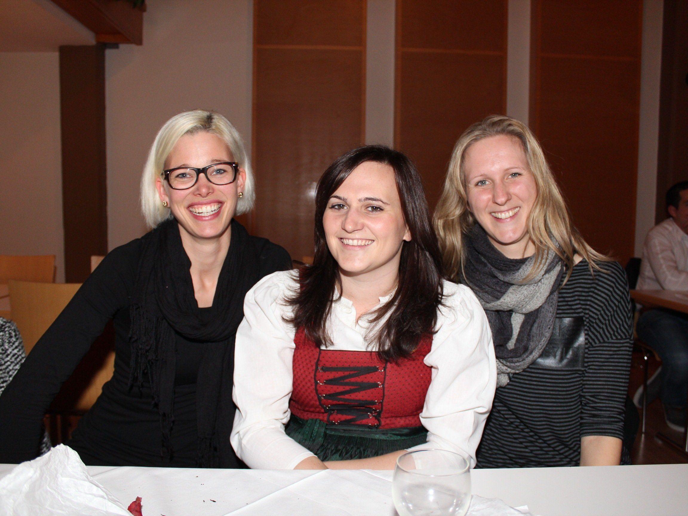 Katharina Loacker, Nadja Lenz und Karin Außerer.