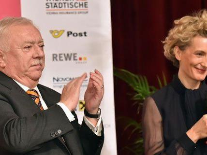Michael Häupl und Anna Gavalda bei der Eröffnung am Montag.