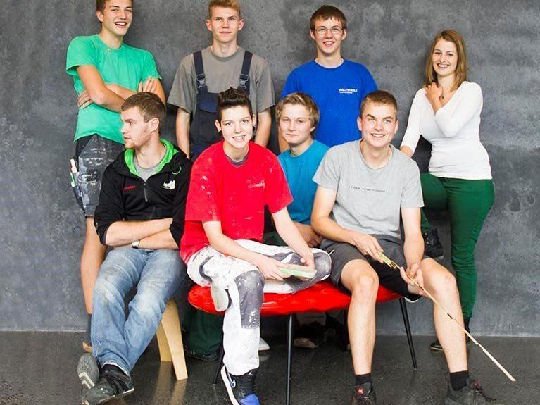 Gruppenfoto der Lehrlinge