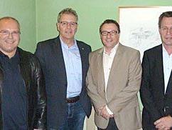 Bild v.l.n.r.: Karl Lang, BR Edgar Mayer, Christophorus Schmid, Peter Vögel