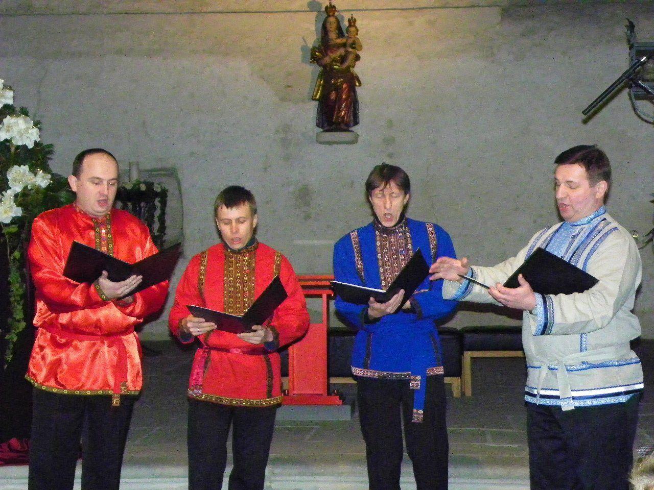 St.Daniel's Quartett sang in der Martinskapelle