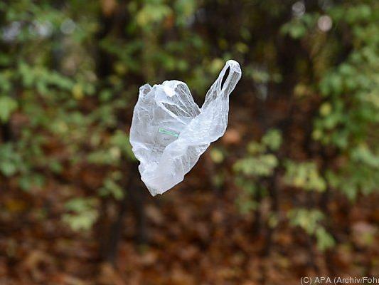 Plastiksackerl sind nicht gerade umweltfreundlich