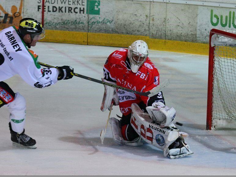 EHC Lustenau gewinnt das Derby gegen VEU Feldkirch mit 3:1