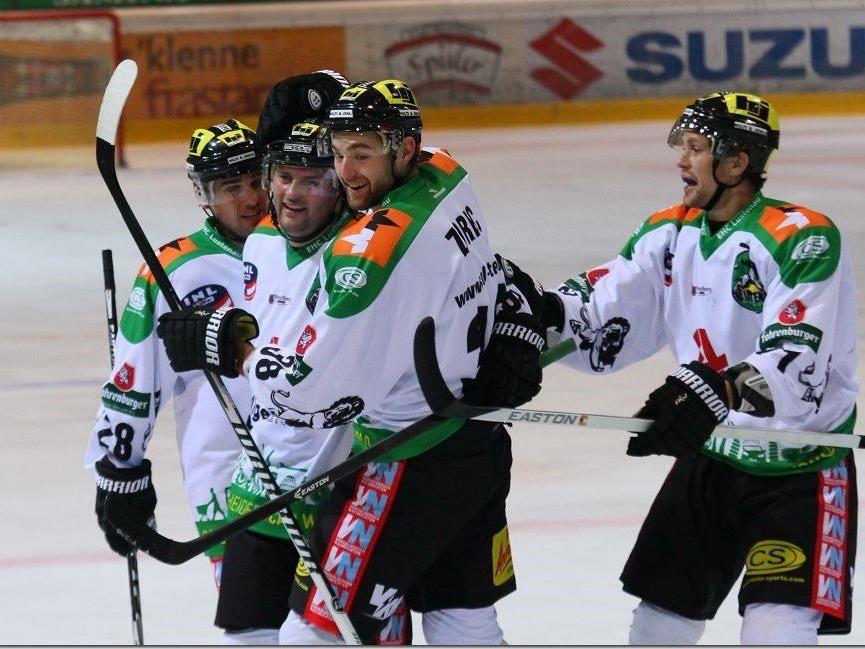 Sieben Mal durfte der EHC Lustenau gegen Kitzbühel jubeln.