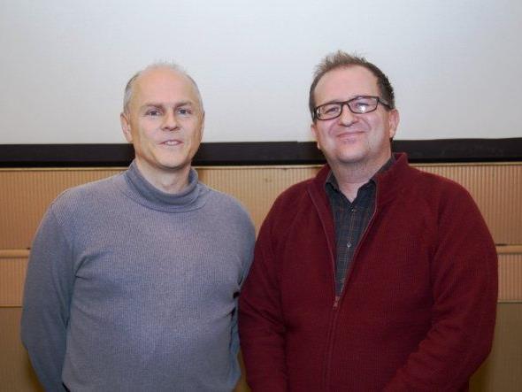 Andreas Reisenbauer interviewt Philipp Horatschek nach der erfolgreichen Premiere