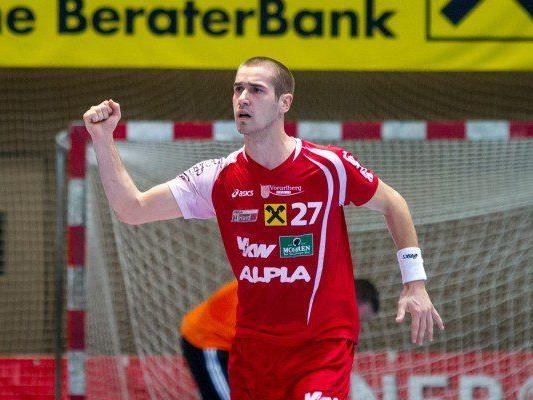 Thomas Weber jubelte über den Sieg gegen die Fivers Margareten.