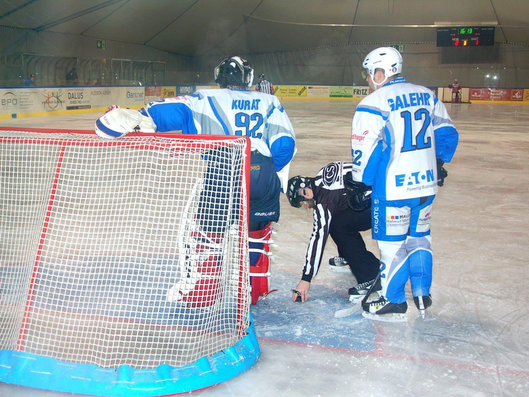 Montafon-Goalie Thomas Kurat spielte eine solide Partie.