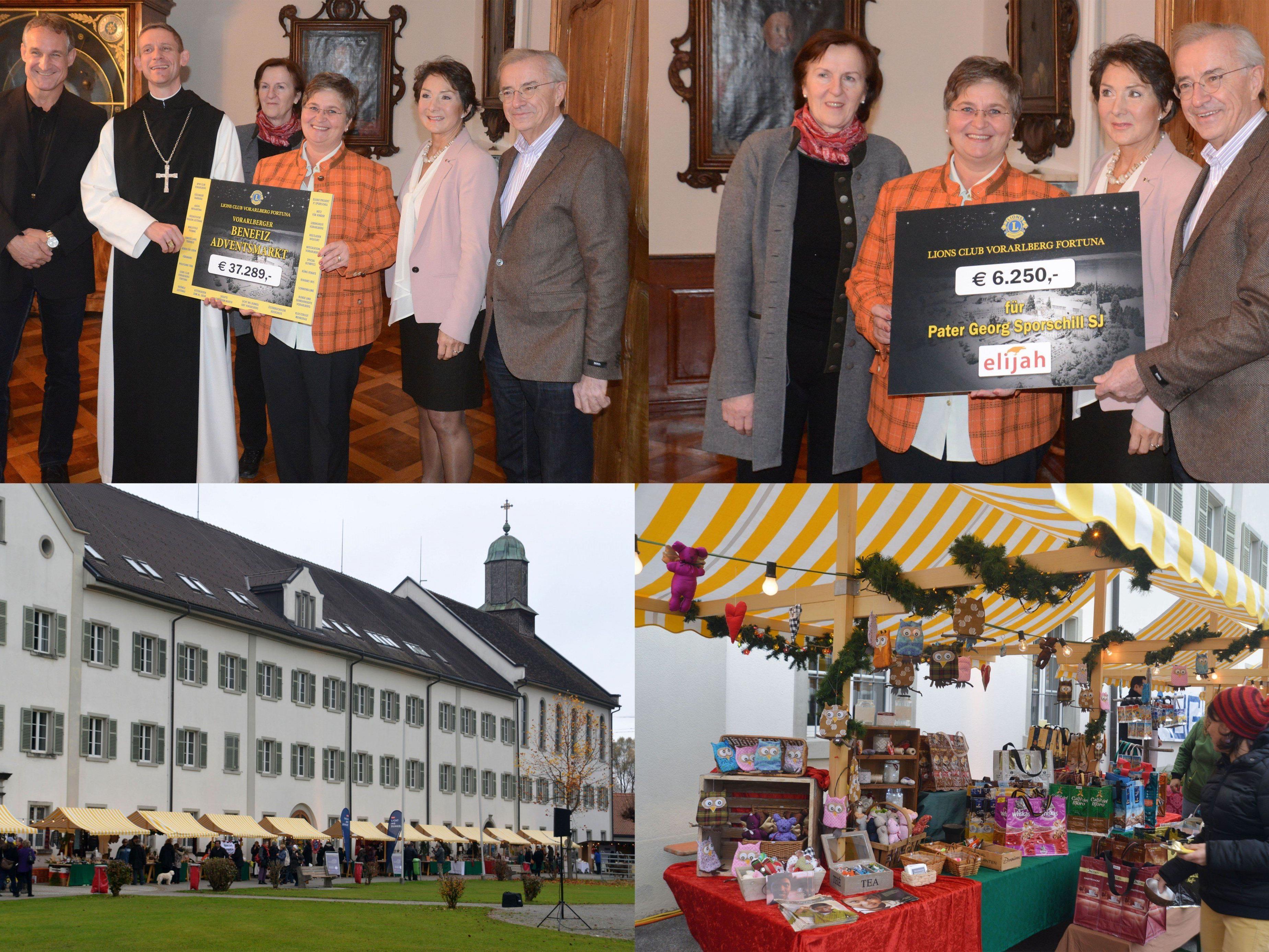 Spendenrekord beim Mehrerauer Benefiz-Advenmarkt des Lions Club Vorarlberg Fortuna.