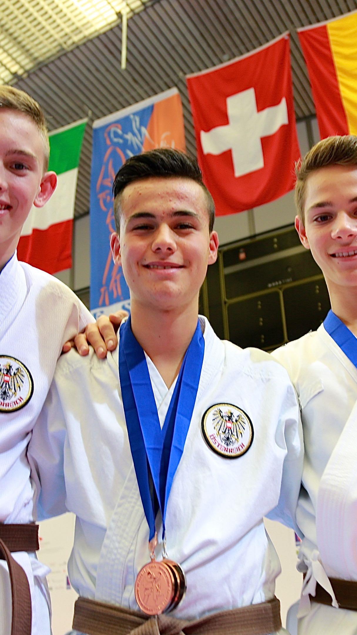 Sechs EM Medaillen holten die Vorarlberger Karatekas in Zürich