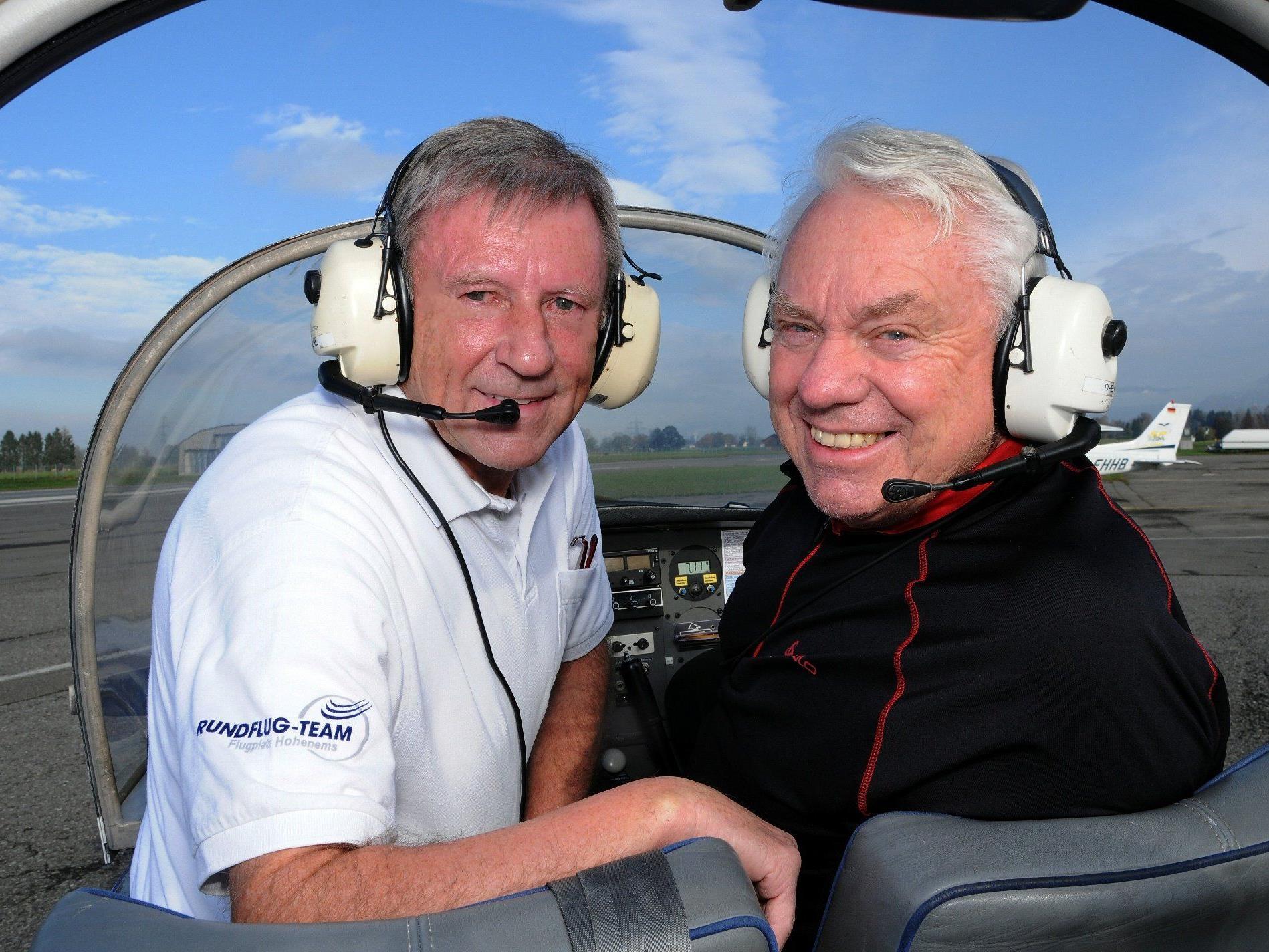 """Rundflugteampilot und frisch gebackener """"flying Vorarlberg Expert"""" Hermann Rass hat mit Günther Lutz zum 15. Kinderflugtag ein ehrgeiziges Ziel vor Augen"""