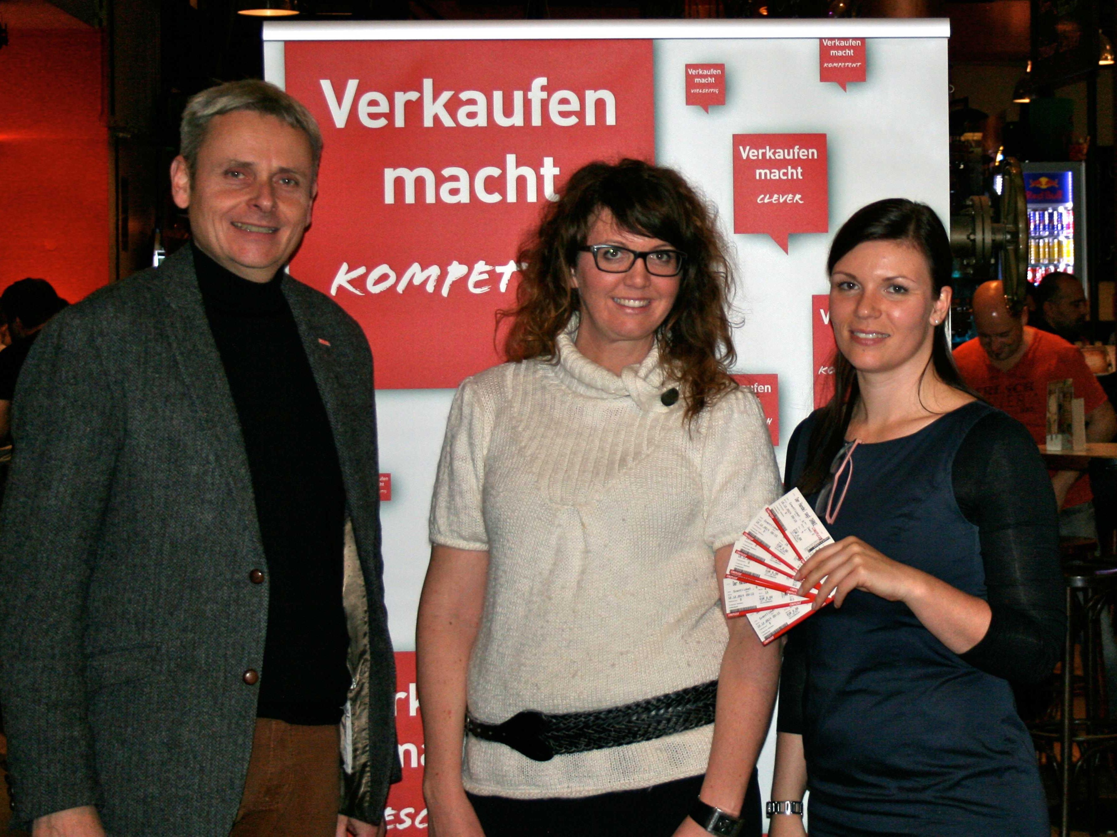 Spartengeschäftsführer Michael Tagwerker, Eva Deschler-Einwaller (ikp Vorarlberg) und Maria Seidel (Spartenbüro Handel).