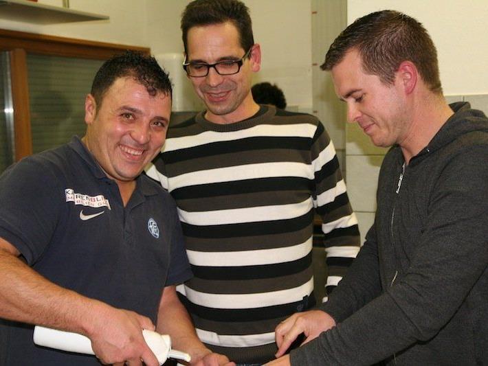 Huschi, Thomas Sperger und Christoph König übernahmen die Bewirtung der Gäste