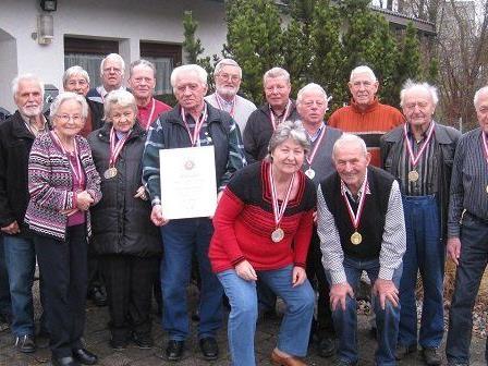 Die MedaillengewinnerInnen der Schützenmeisterschaft des Pensionistenverbandes Vorarlberg