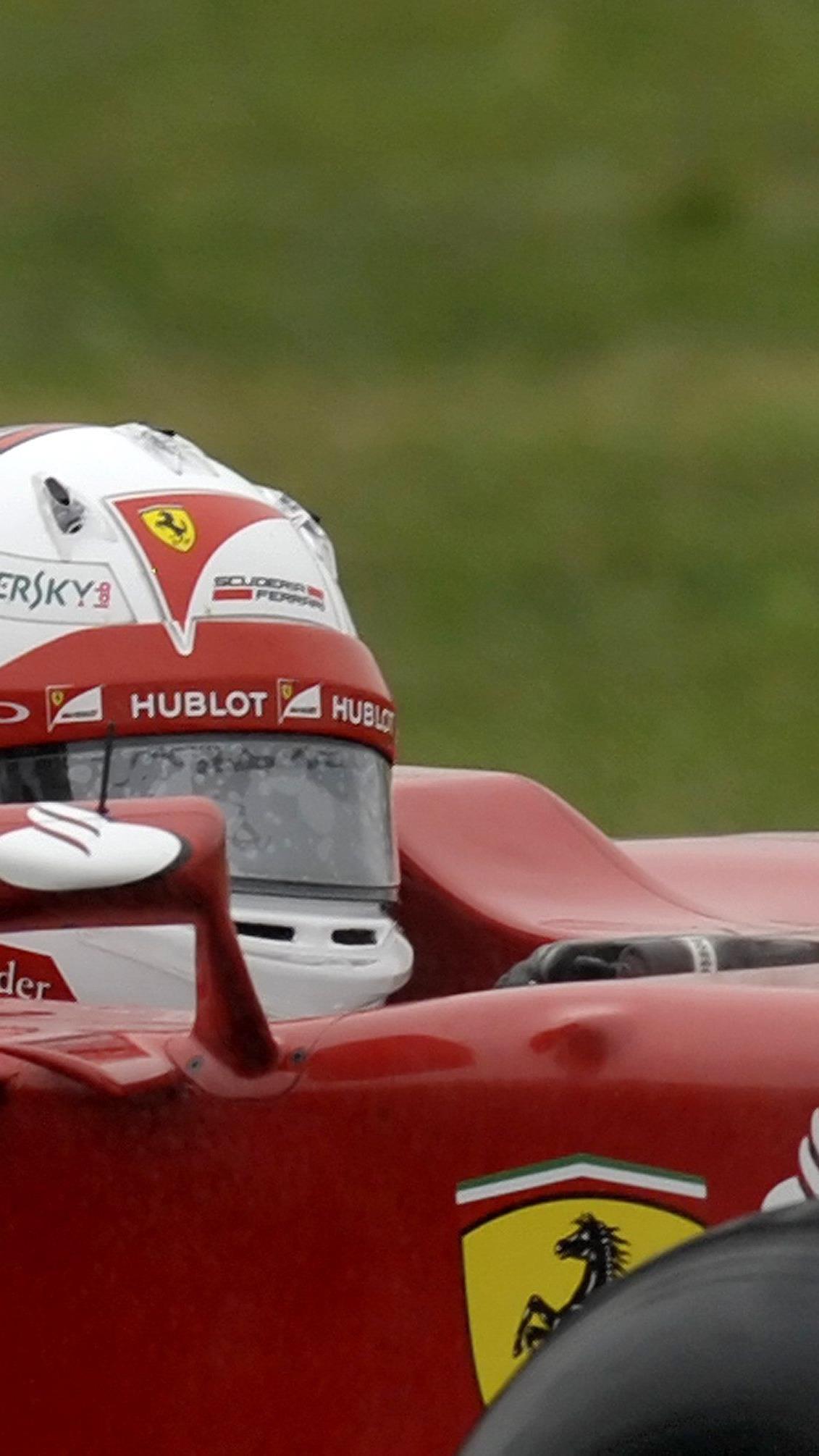 Vettel drehte seine ersten Runden für die Scuderia in einem Ferrari von 2012.