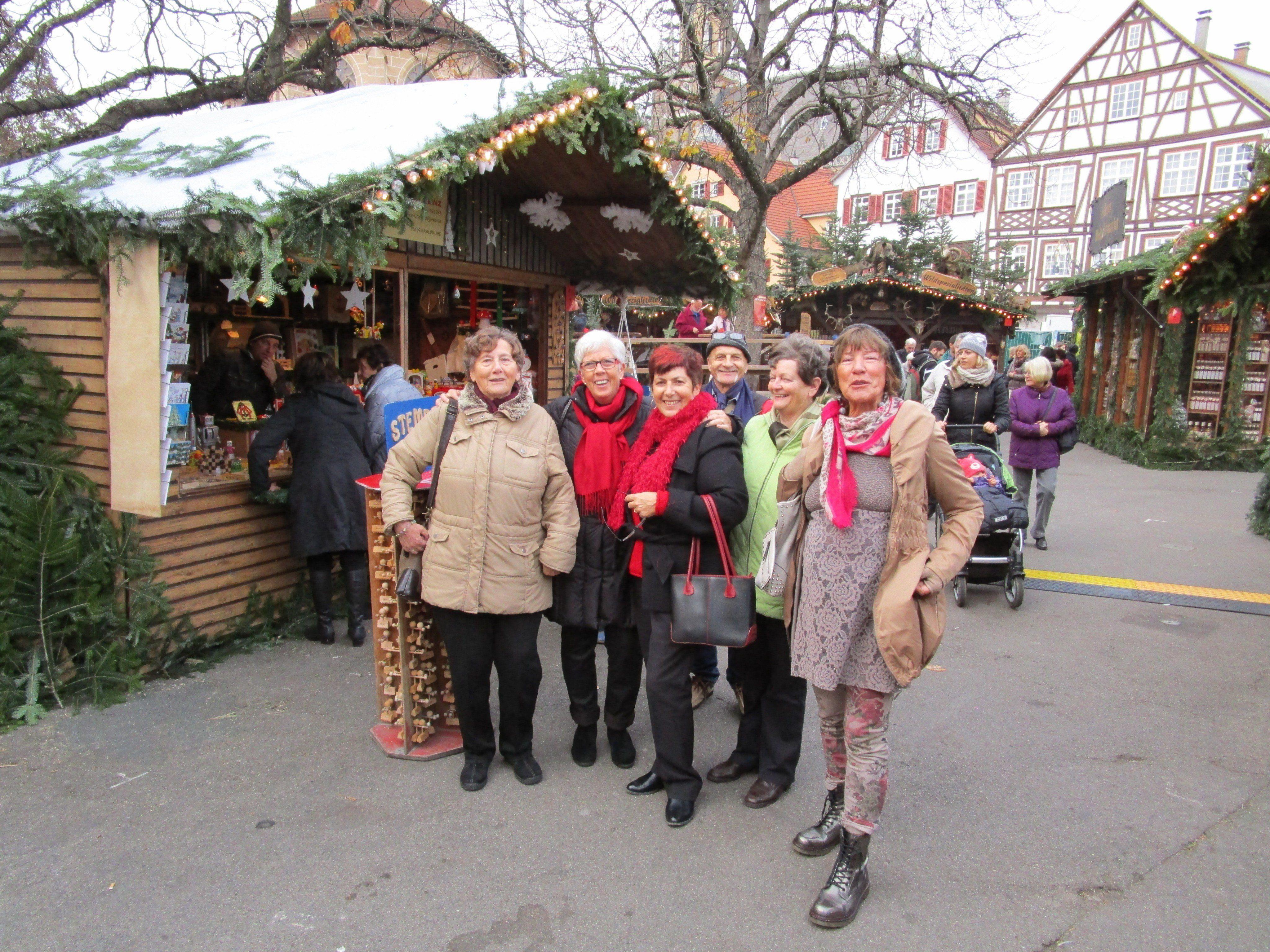 Seniorenring OG Bregenz beim Weihnachtsmarkt in Esslingen.