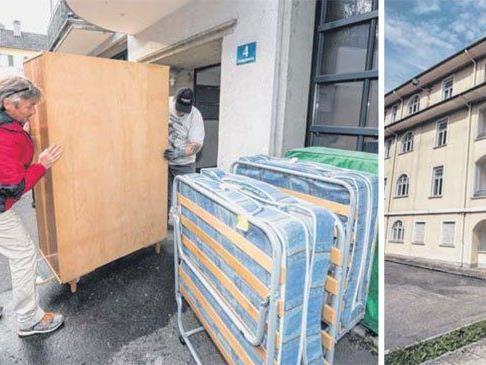 Die Möbelpacker waren schon in Bregenz. In Gaisbühel (r.) wird ab 1. Februar gebaut.