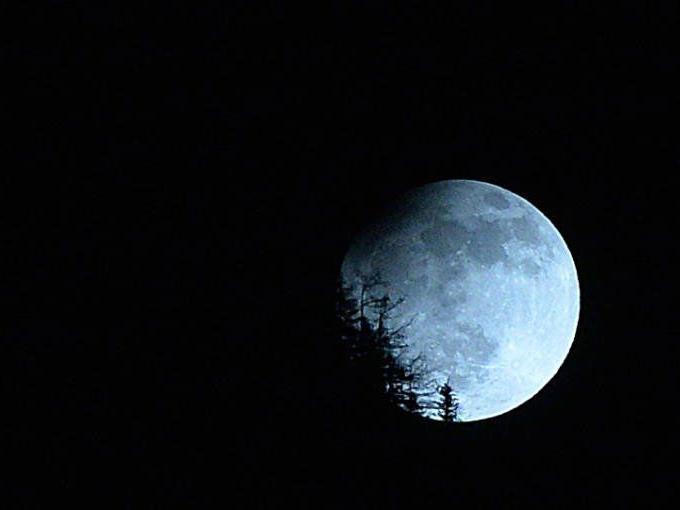 2015 verschwindet der Mond wieder einmal.