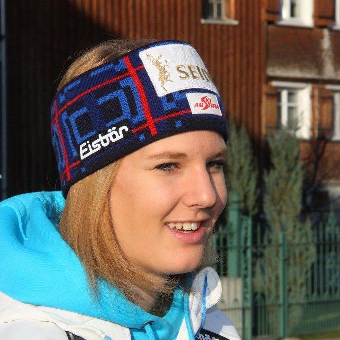 Die Weltmeisterin Lisl Kappaurer fuhr mit Bestzeit im zweiten Durchgang auf den vierten Platz.