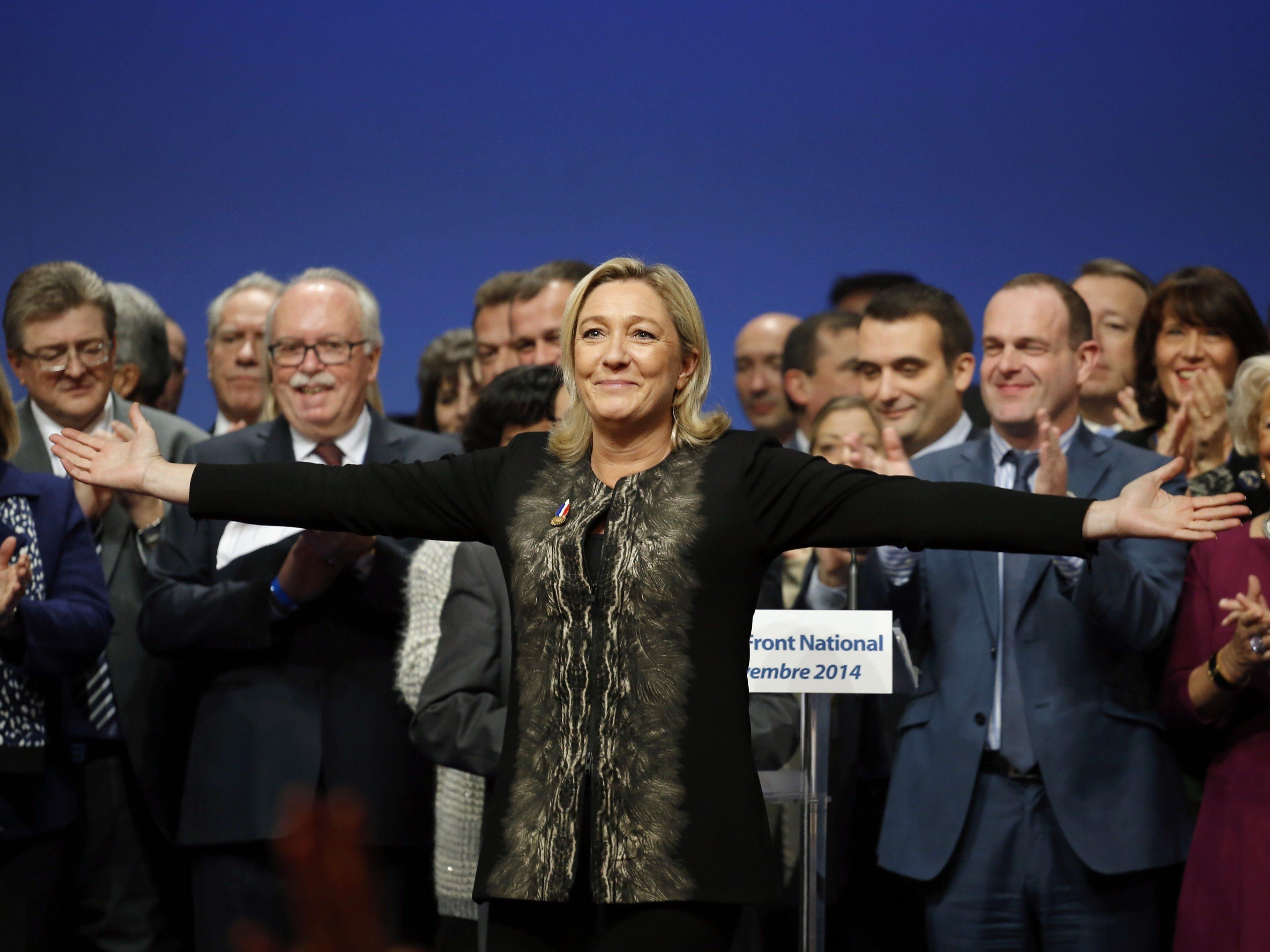 Parteitag von Frankreichs Rechtsextremen in Lyon.