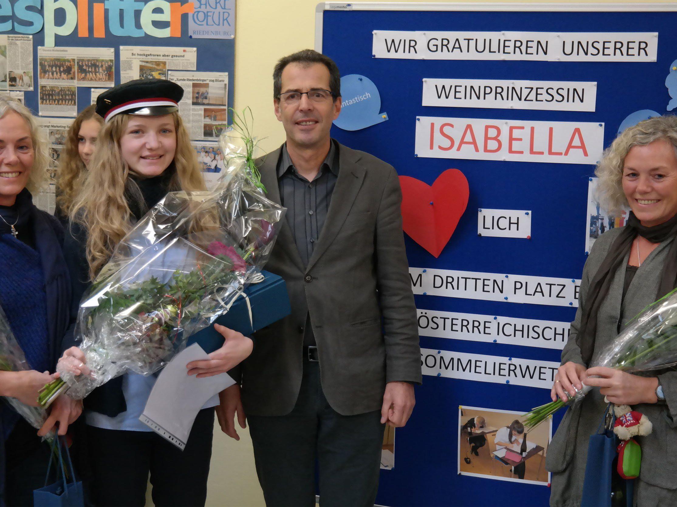 Top-Sommelierin (von links): Helga Boch, Isabella Oberhauser, Gebhard Hintgergger, Gerda Krämer.