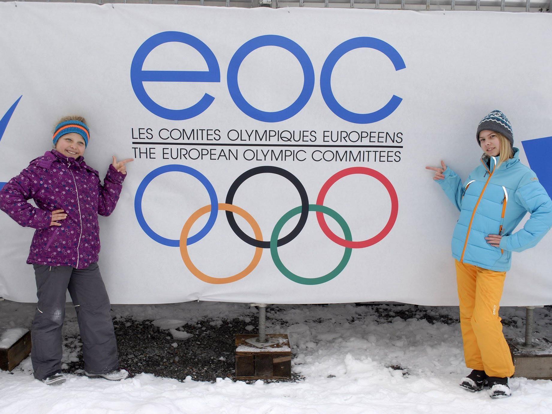 Groß ist die Vorfreude auf die EYOF 2015 auch bei diesen beiden Montafonerinnen.
