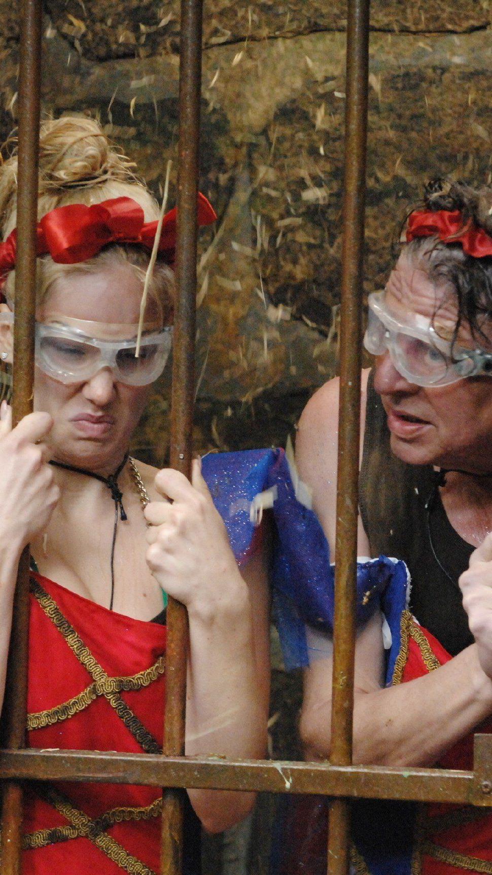 Angelina und walter in ihrer Dschungelprüfung an Tag 8.