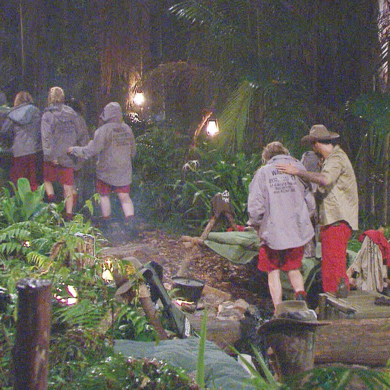 Am 10. Tag fürchten sich die Dschungelcamp-Bewohner vor inem Unwetter im australischen Dschungel.