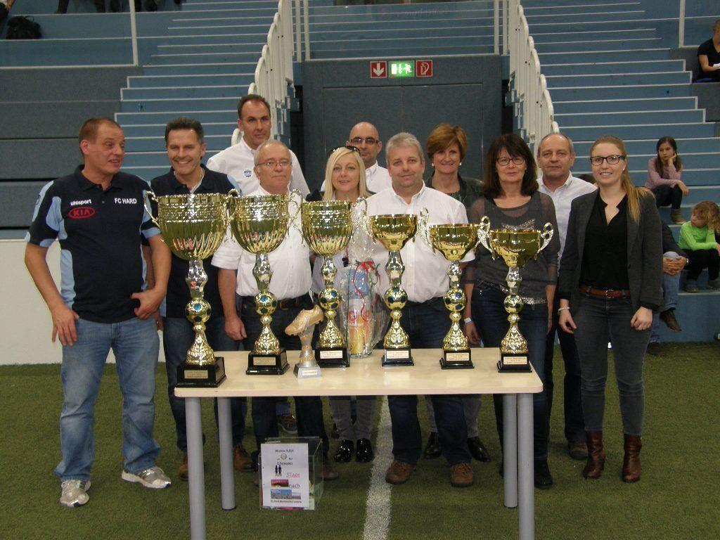 Das Organisatorenteam vom FC Hard war 15 Tage lang im Dauerstress.