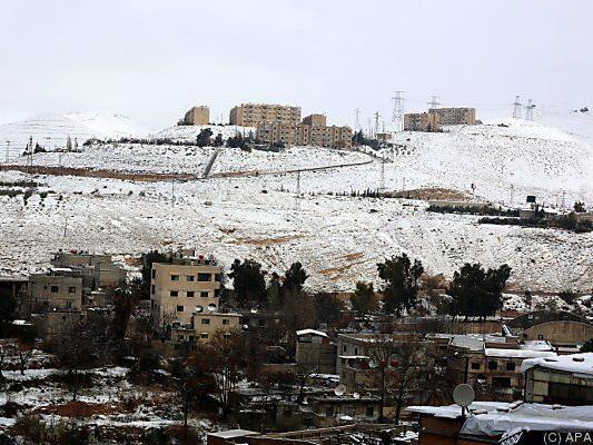 Winterlandschaft in Damaskus