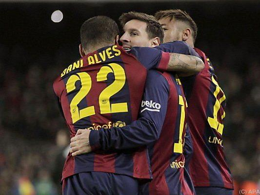 Messi traf für Barca
