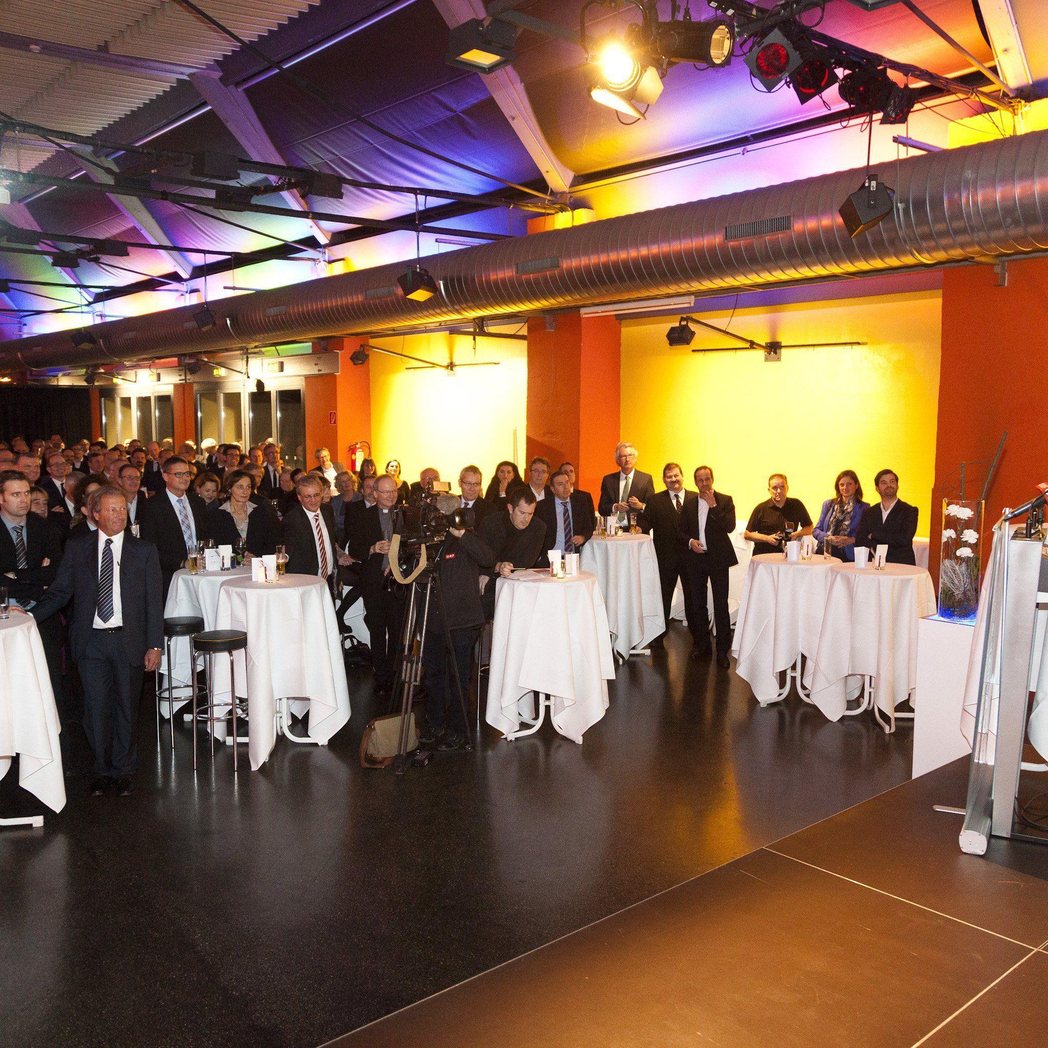 Rund 350 Gäste waren beim Neujahrsempfang der Industriellenvereinigung Vorarlberg.
