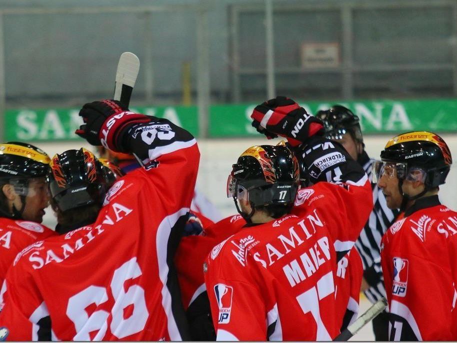Sieben Mal durfte die VEU Feldkirch im Heimspiel gegen Kitzbühel jubeln.