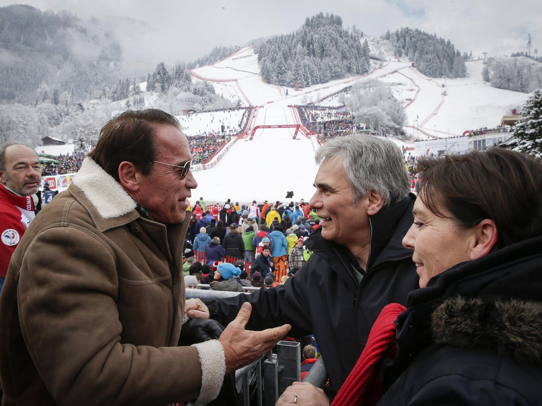 In Kitzbühel treffen auch Politik und Show-Biz aufeinander.