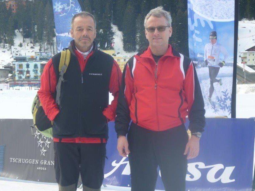 Die erfahrenen Bergläufer Johann Netzer und Ralf Schroeder starteten erfolgreich in die neue Laufsaison