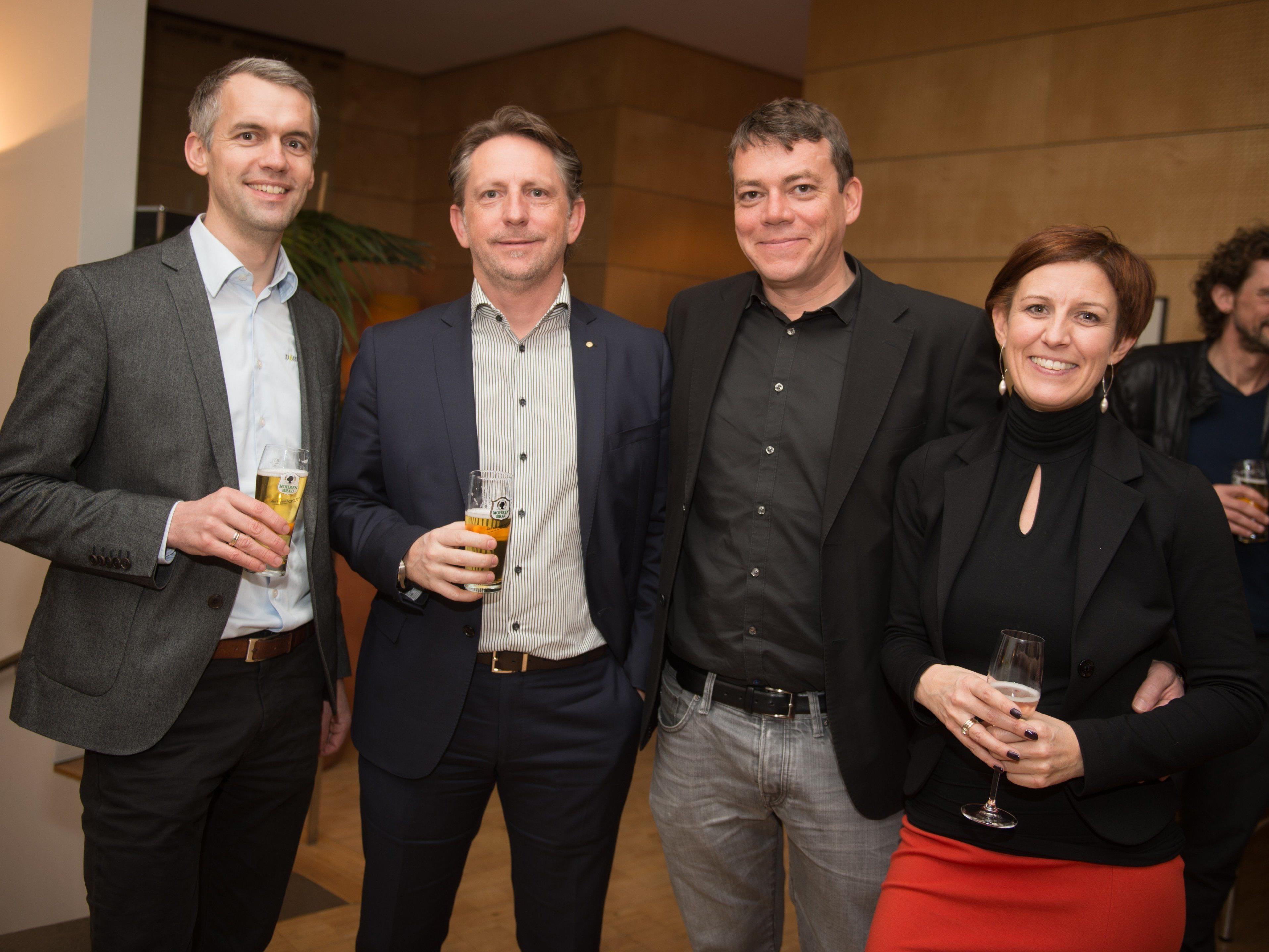 Herbert Kaufmann, Rudi Präg, Klaus Lingg und Heidi Mark