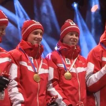 Österreich liegt im Medaillenspiegel auf Platz drei.