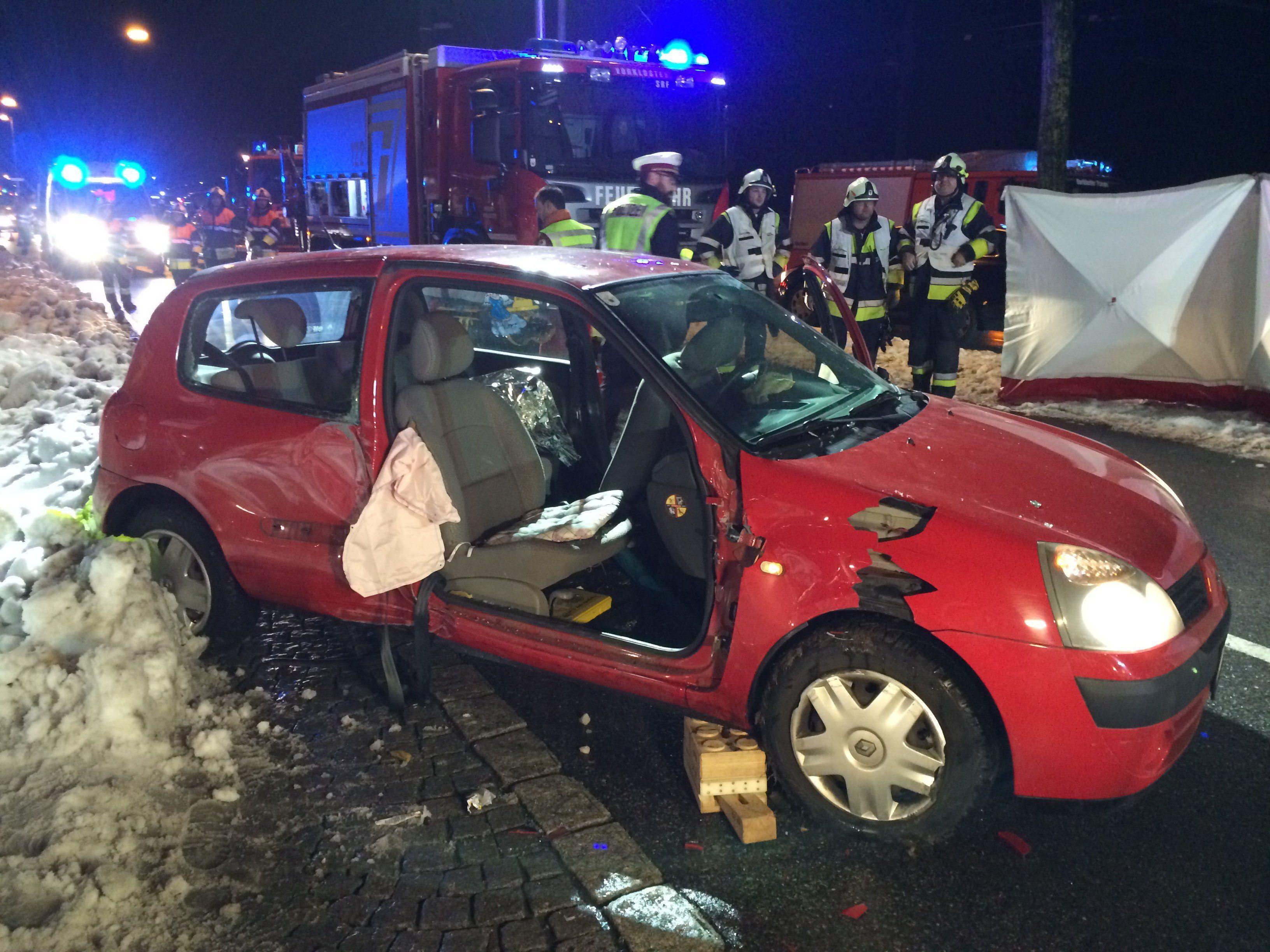 Verkehrsunfall in Bregenzer Innenstadt fordert Verletzte.