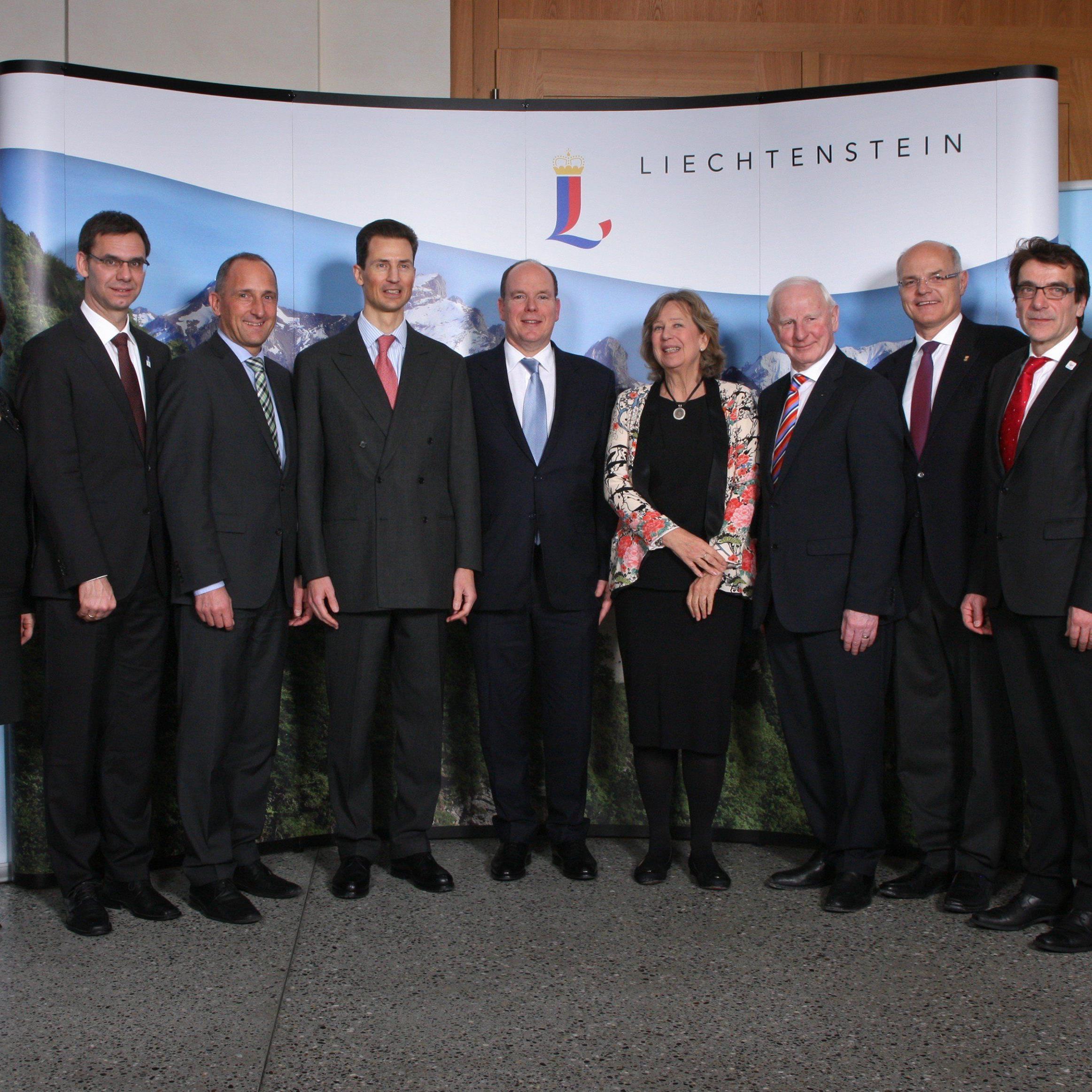 Fürstlicher Empfang in Liechtenstein für die EYOF Familie.
