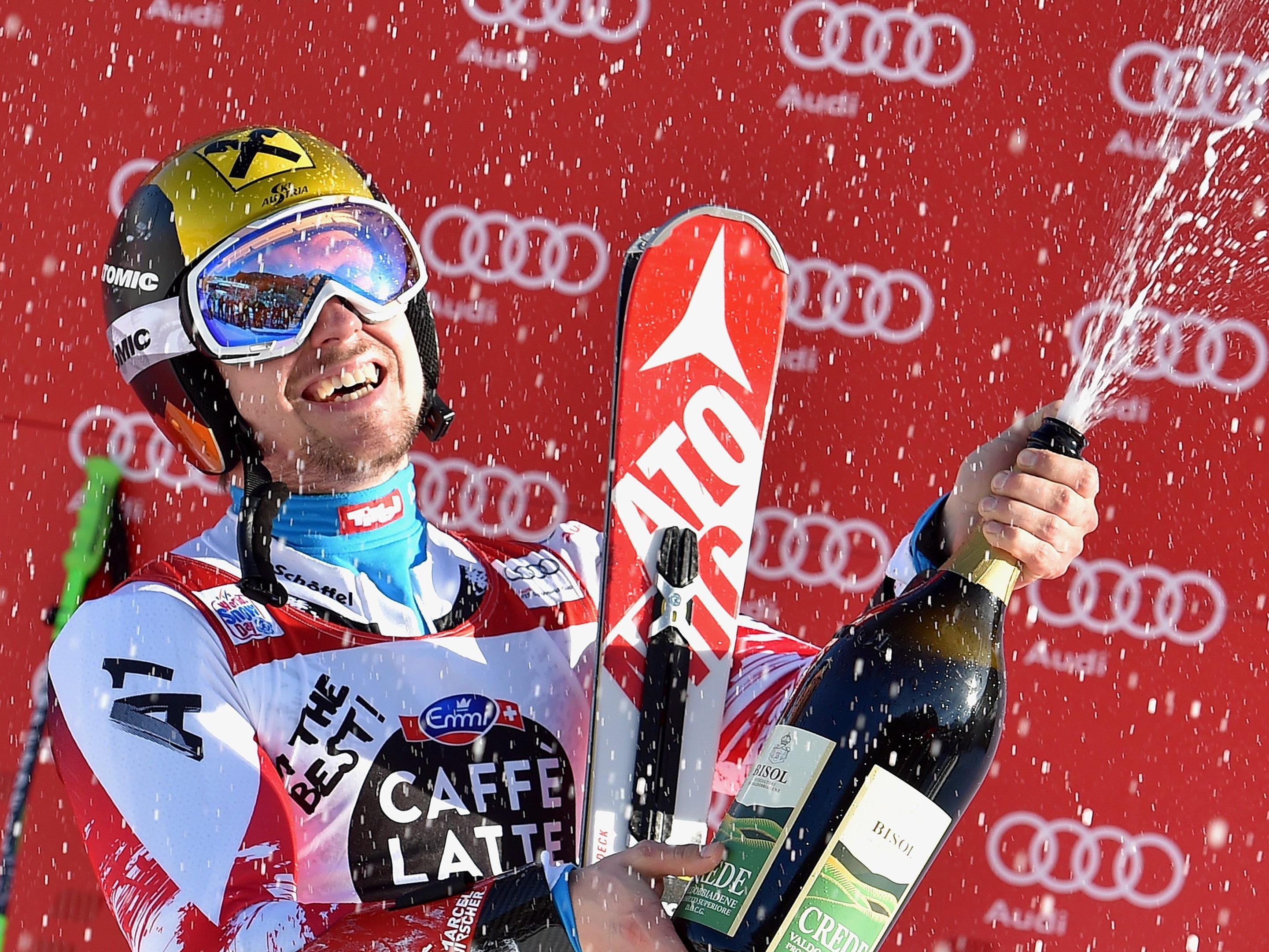 Marcel Hirscher holte sich zum dritten Mal in Folge den Sieg im Zagreb-Slalom.