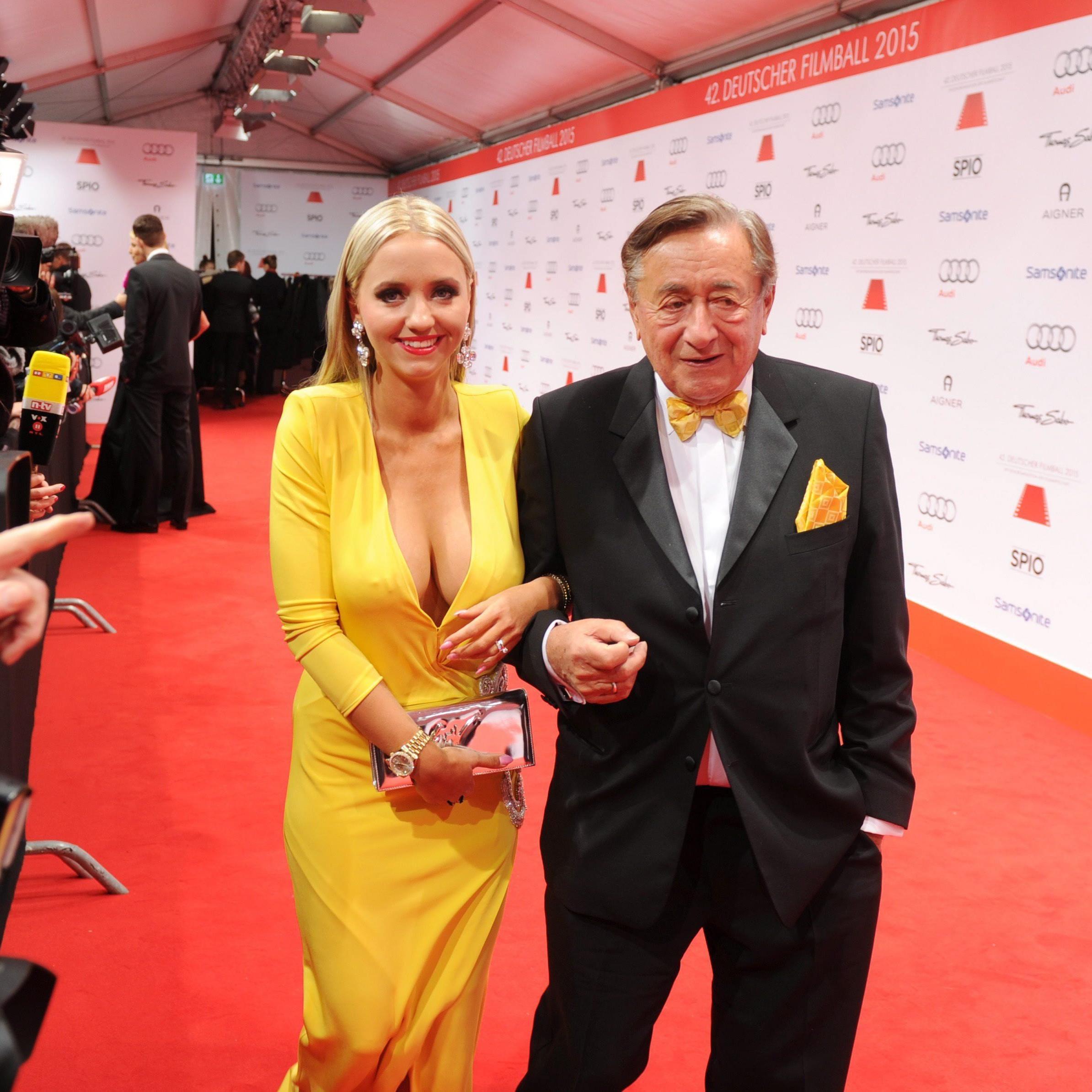 Richard Lugner und Frau Cathy beim deutschen Filmball.