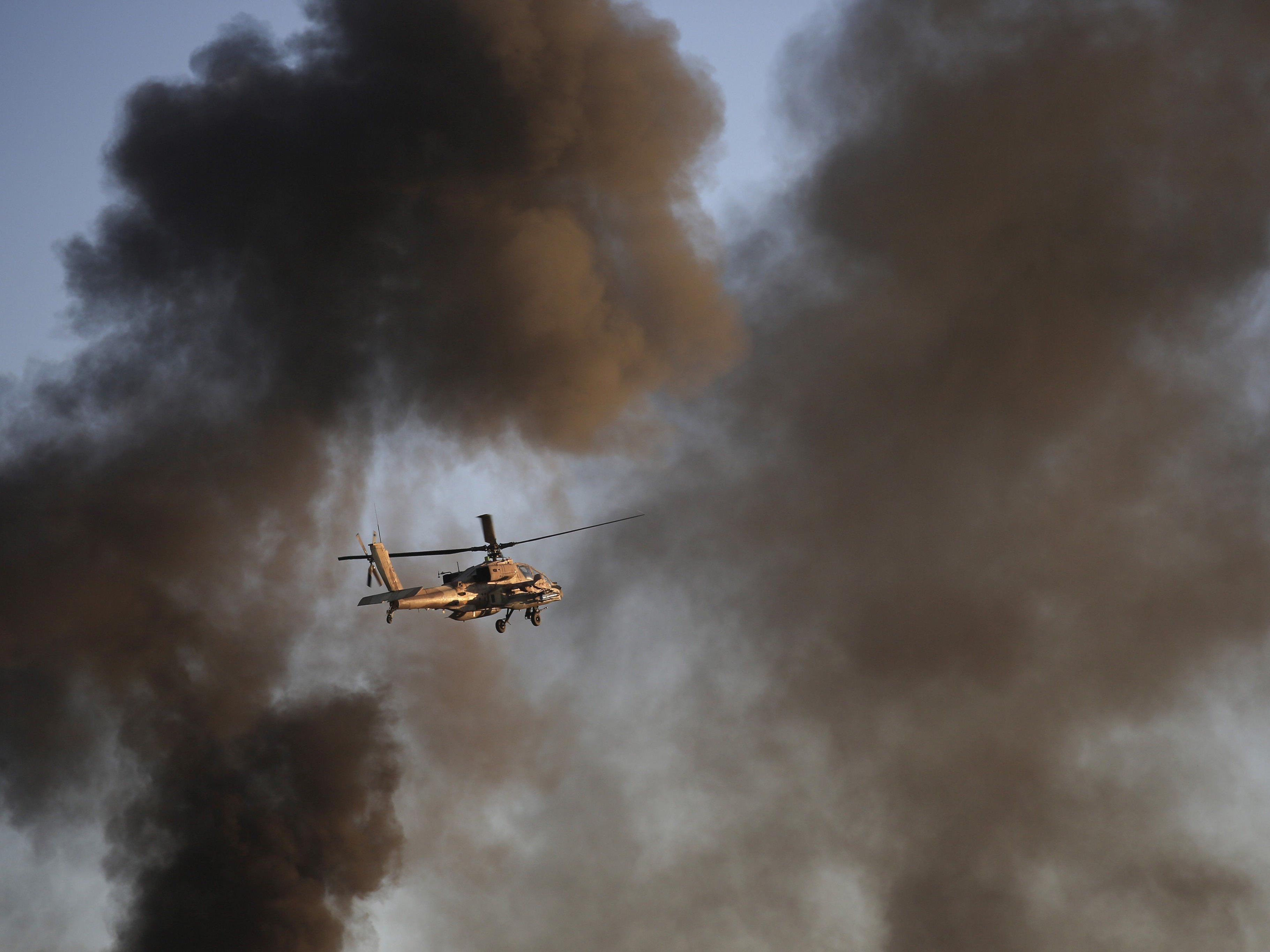Ein israelischer Hubschrauber feuerte zwei Raketen in der Nähe der von Israel besetzten Golan-Höhen ab. (Symbolbild)