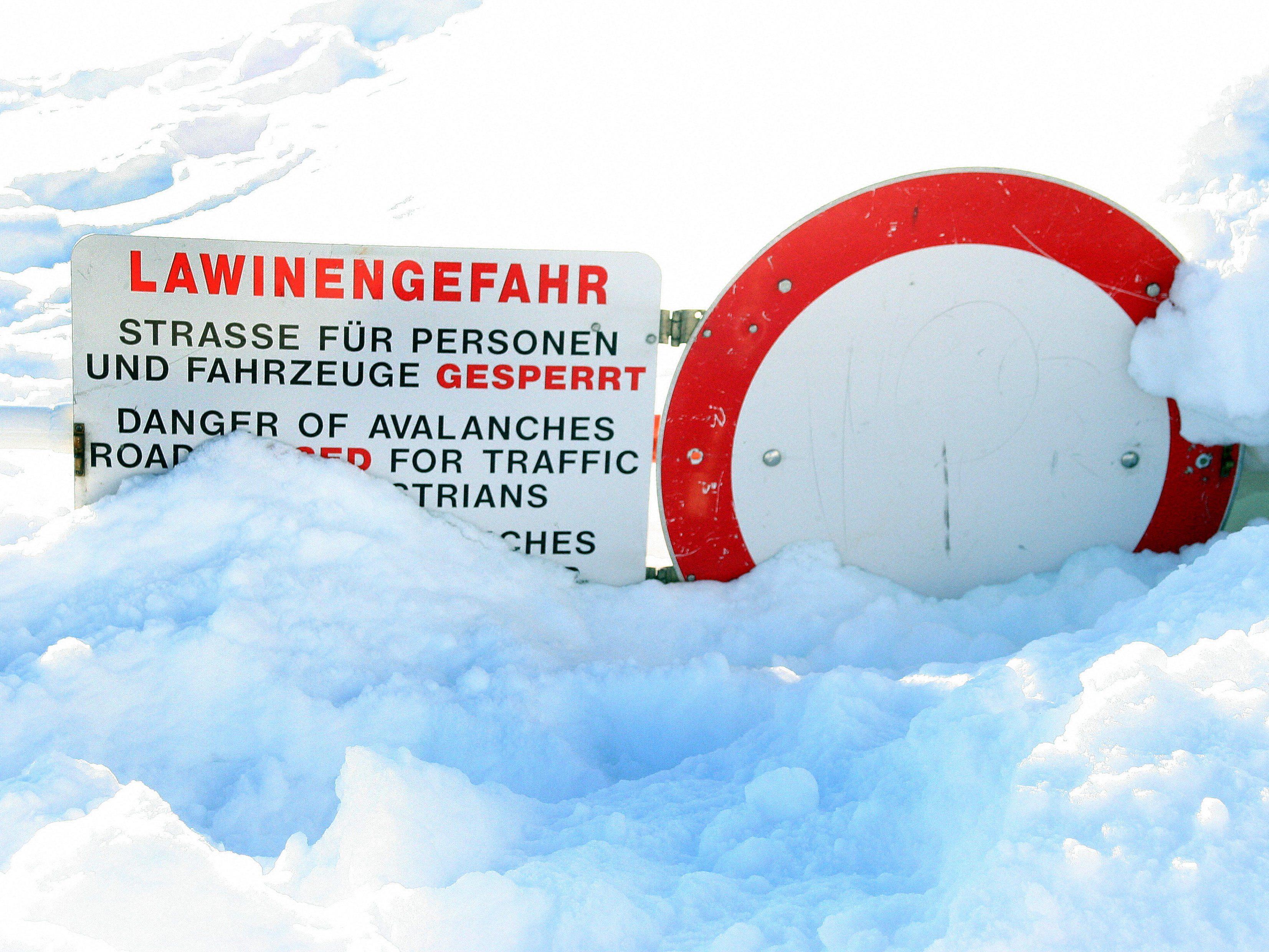 Lawinenabgang: In Vorarlberg herrscht erhebliche Lawinengefahr.