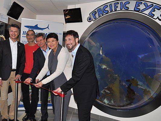 Bei der Eröffnung des Pacific Eye im Haus des Meeres