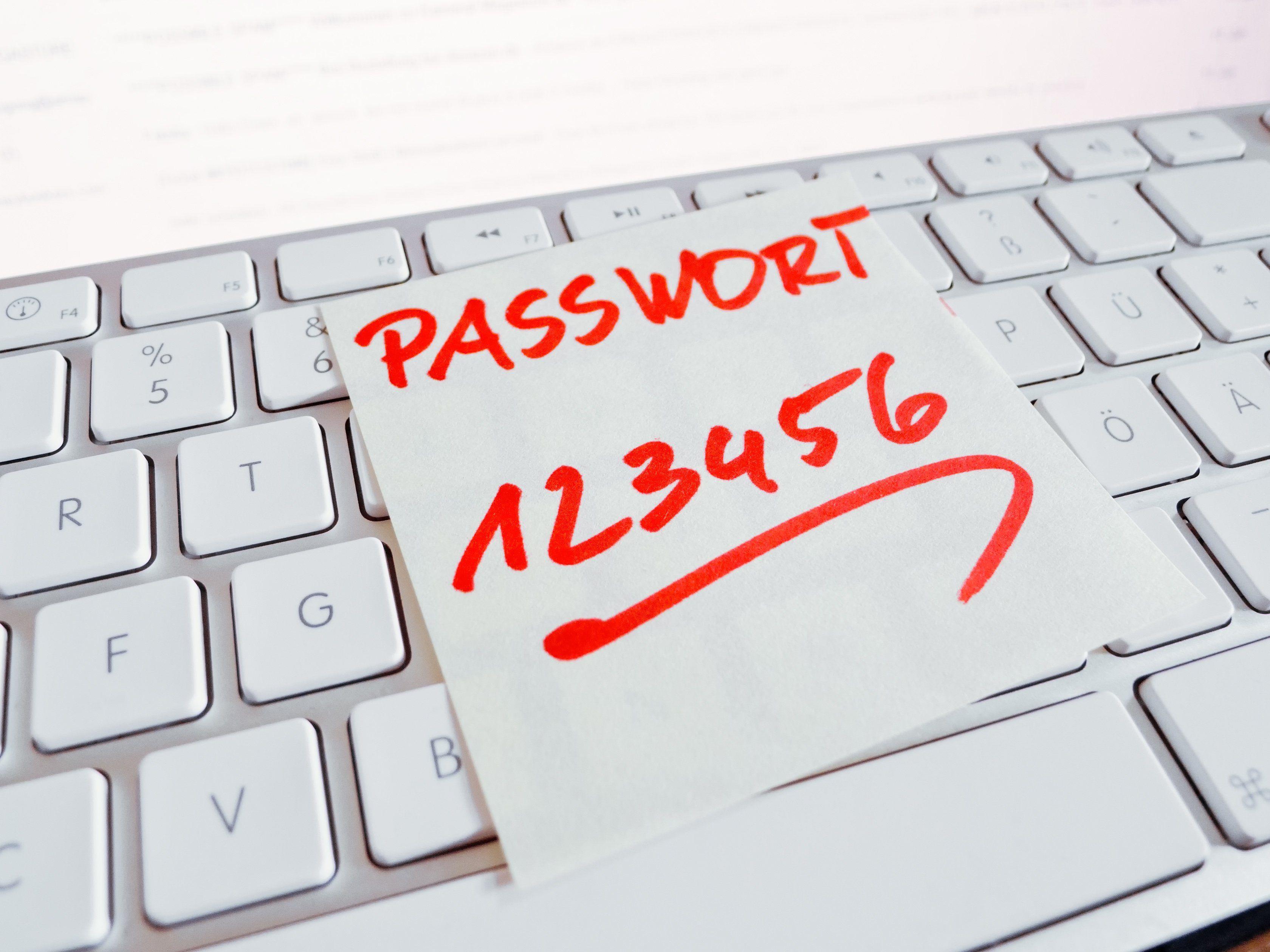 Von diesen Passwörtern sollte man mit Sicherheit die Finger lassen.