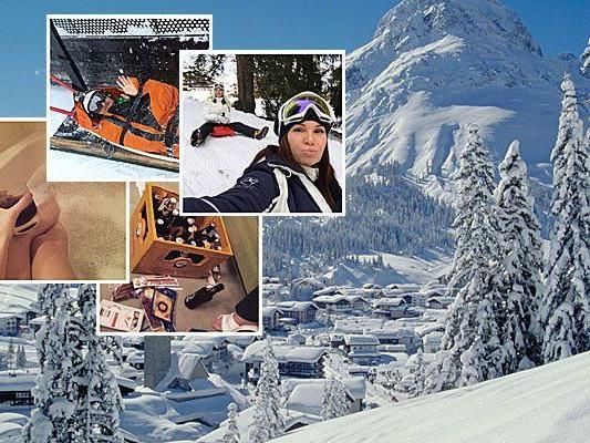 Was russische Gäste am Arlberg so posten.